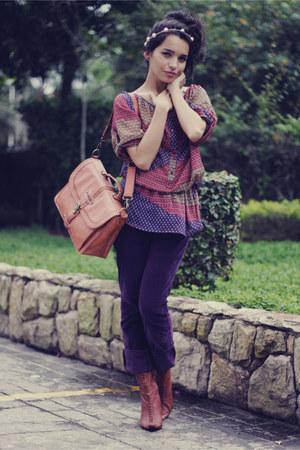 deep purple Zara pants