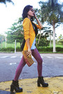 Light-blue-american-apparel-jeans-mustard-sheinside-blazer