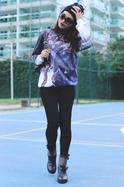 violet Mr Gugu & Miss Go sweater