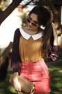 Mustard-romwe-blouse