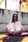 Gold-yoins-necklace-white-sheinside-shirt-zerouv-sunglasses