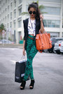 Black-felicee-blazer-white-t-shirt-shirt-orange-chicwish-bag