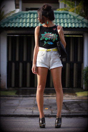 jeans Renner shorts - oxford Arezzo shoes - Acervo top