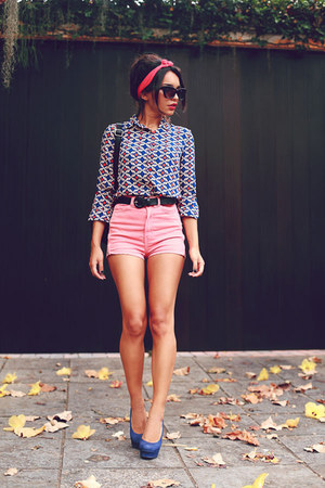 vintage print Sheinside blouse