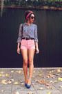 Vintage-print-sheinside-blouse