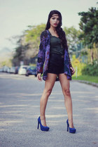 Via Marte heels - Brechicaf shorts - Leader t-shirt - Chicwish cardigan