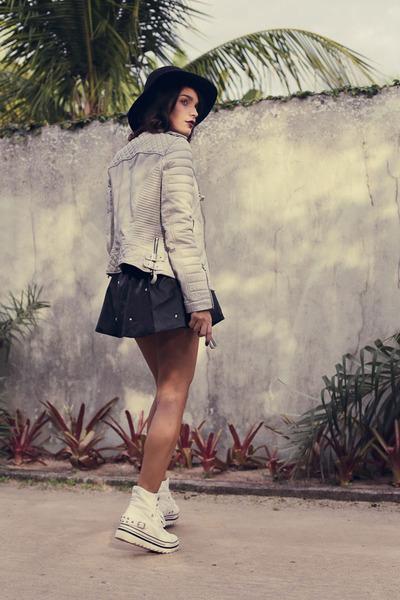 leather Boda Skins jacket - Forever 21 hat - 6ks skirt