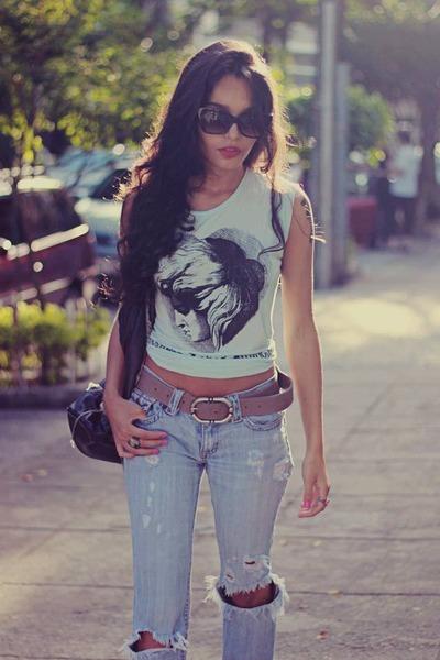 periwinkle vintage jeans brech jeans - light blue The orphans arms shirt