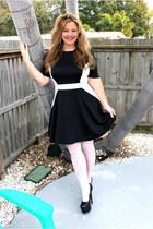 black Faith heels - Mango dress