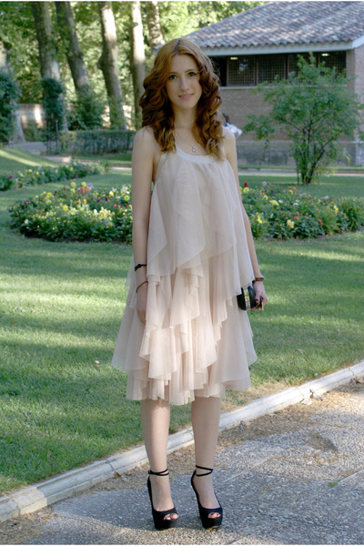 black BLANCO bag - light pink H&M dress - black Zara heels