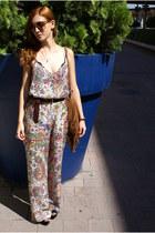 chartreuse Zara romper - black Zara heels