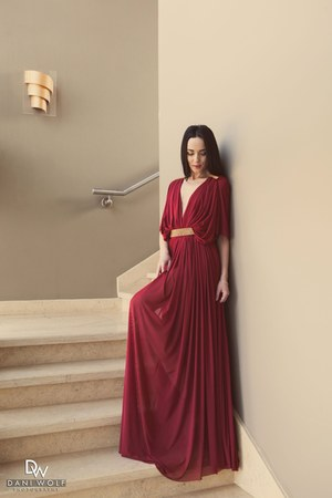 brick red Elen dress