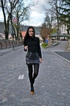 black handmade bad style skirt - black Zara blouse