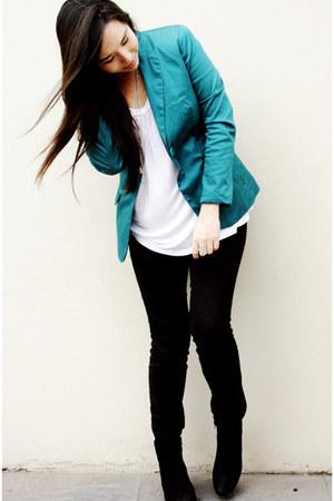 axxs blazer - axxs boots - Sybilla pants - H&M top - Forever21 watch