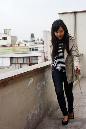 dkarla jeans - American Rag jacket - H&M sweater - Navigata bag - H&M flats
