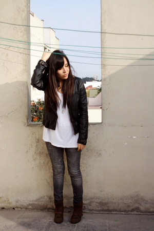Marypaz boots - Xiomi jeans - BLANCO jacket - H&M top