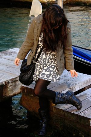 Forever 21 dress - asos boots - Hypnotic jacket - Navigata bag
