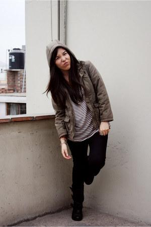 asos boots - Oechsle jacket - Zara top - Sybilla pants