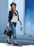 Jacket jacket - Shoes shoes - jeans Boyfriend jeans jeans - hat hat