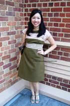 green Veronika Maine dress - green Vincci shoes - beige Sportsgirl belt