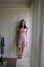 Pink-kmart-dress-pink-vincci-shoes-pink-diva-hairband-accessories