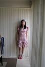 Pink-kmart-dress-pink-vincci-shoes-pink-diva-hairband-accessories