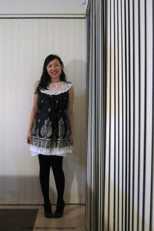 black Sunny Girl dress - purple XOXO shoes - white MNG coat