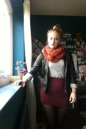 Primark skirt - asos jacket - asos scarf - Marks and Spencer top