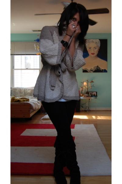 BCBG sweater - Hanes shirt - Marshalls tights - Minnetonka shoes