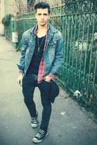 Levis jacket - Converse shoes - H&M pants