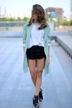 Primark shorts - Zara heels