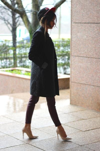 Comptoir des Cotonniers coat - H&M leggings - Zara heels