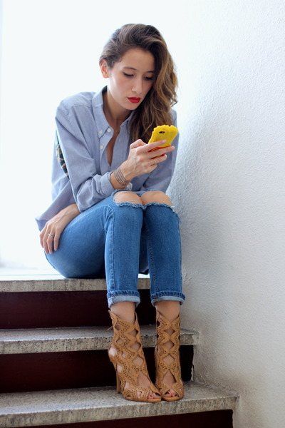 asos jeans - Zara heels