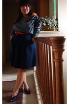 Zara sweater - J Crew skirt - Aldo shoes - Forever 21 belt