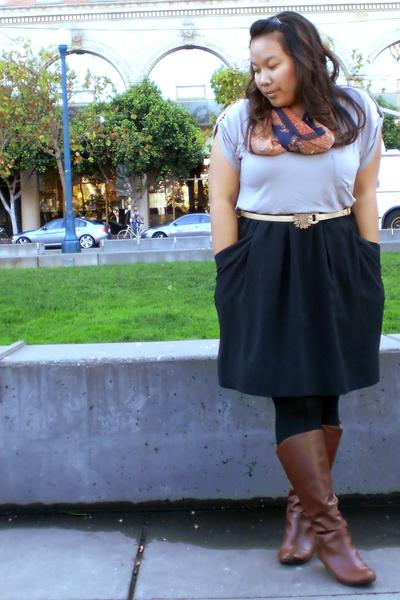 Forever 21 t-shirt - Target skirt - Target boots - Mascara Vintage scarf - Targe