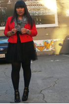 red vintage jacket - black from Ross shoes