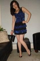 blue Guess dress - black Guess bag - black le chateau shoes - gold Aldo accessor