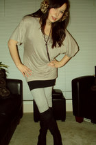 brown Aldo Acessories accessories - eggshell INC skirt - black shirt - silver ga