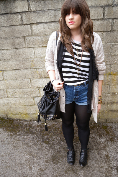 Topshop top - Miss Selfridge shorts - JJ Park vest - Topshop cardigan