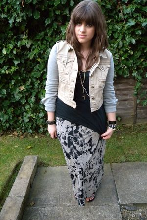 River Island skirt - Topshop jacket - black Topshop top