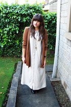 neutral staple dress - burnt orange River Island jacket
