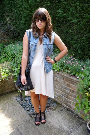 asos dress - vintage jacket - black Urban Outfitters shoes - black asos purse
