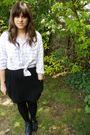Pink-vintage-shirt-topshop-jacket-black-american-apparel-skirt-black-urban