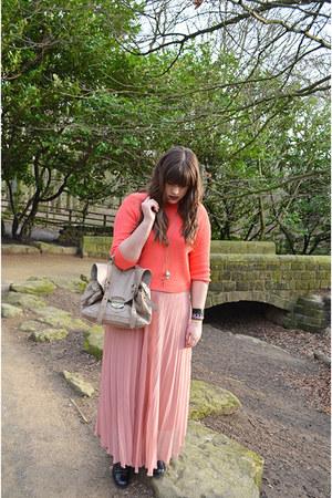 black asoscom boots - beige asoscom bag - light pink RARE skirt