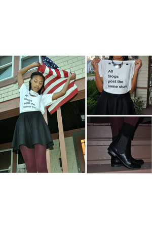 graphic tee American Apparel shirt - Target boots - Urban Outfitters skirt