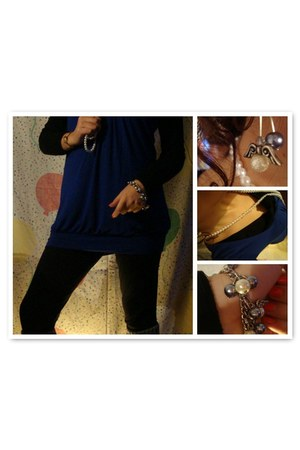 Bershka dress - Zara leggings - handmade earrings - handmade bracelet - faux pea