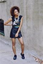 black Forever 21 skirt - black air max thea nike sneakers