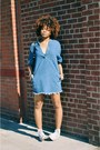 c177a6e9dc4 ... Blue-bdg-dress-white-high-top-converse-sneakers