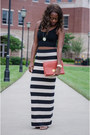Red-clutch-south-moon-under-bag-tan-striped-free-people-skirt