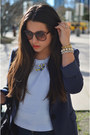 Navy-31-phillip-lim-for-target-blazer-light-blue-topshop-blouse
